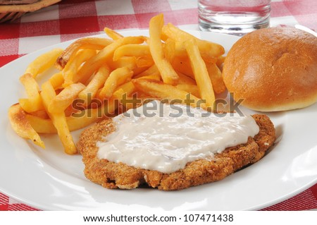 country fried steak chicken fried steak in gravy fried chicken with ...