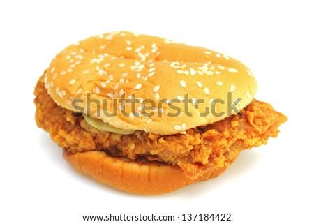 Chicken fry burger #137184422
