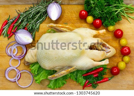 chicken, goose, Turkey, quail, pictures for the catalog, blank for roasting