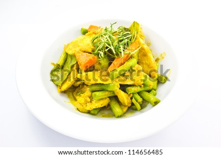 chicken in spicy curry - stock photo