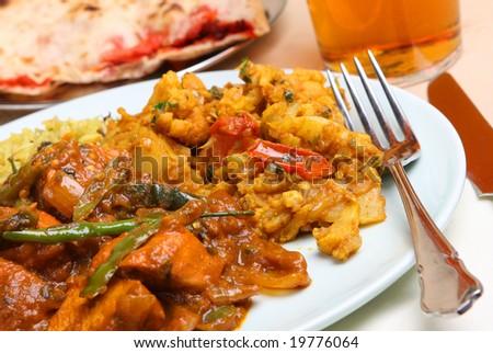 Chicken Jalfrezi Indian Meal - stock photo