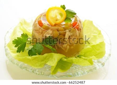 Chicken jelly - stock photo