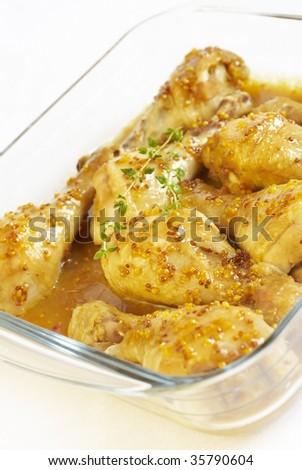 Chicken legs in sauce