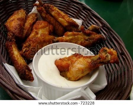 chicken legs with a garlic sauce