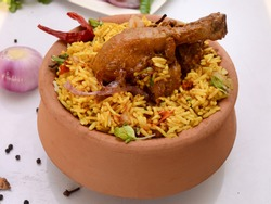 Chicken Lucknowi Biryani in Handi images