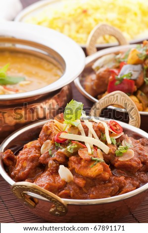 Chicken Madras with Lentil Soup