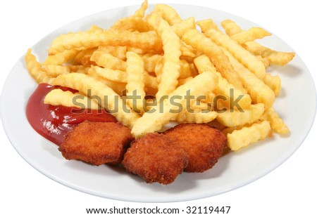 chicken nuggets clipart. stock photo : Chicken Nuggets