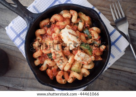 Chicken Pasta on Skillet
