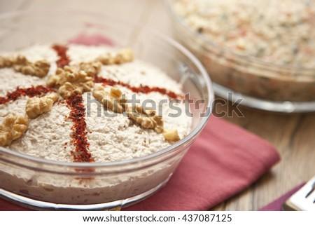 Chicken Porridge turkish cerkez (cerkes) tavugu traditional ramadan food   #437087125