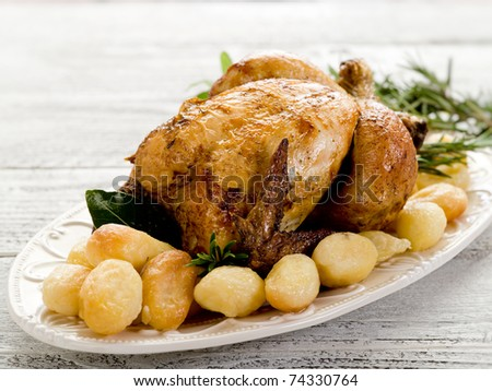 chicken roasted with potatoes