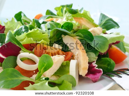 Chicken salad, close-up