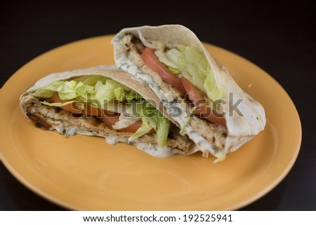 Beef Shawarma Pita Chicken Shawarma Pita Bread
