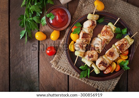 chicken shish kebab with...