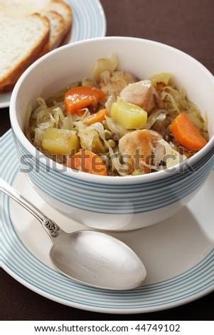 Chicken stew in a bowl