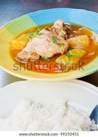 Chicken Stew Thai food