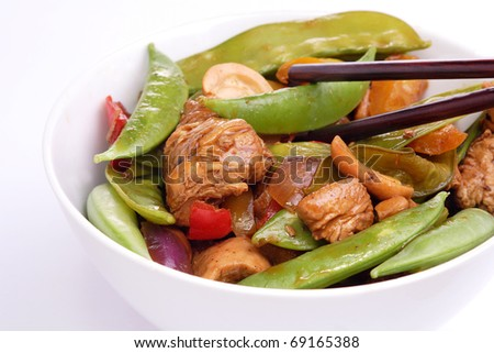 Chicken stir fry meal