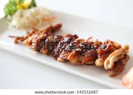chicken teriyaki - stock photo