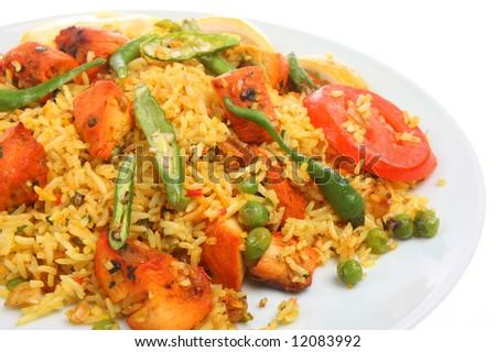 Chicken tikka biriani curry