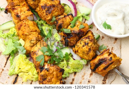 Chicken tikka chapatti wrap
