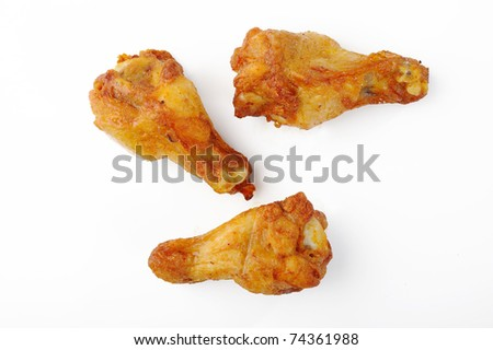 Chicken wing isolated on white background