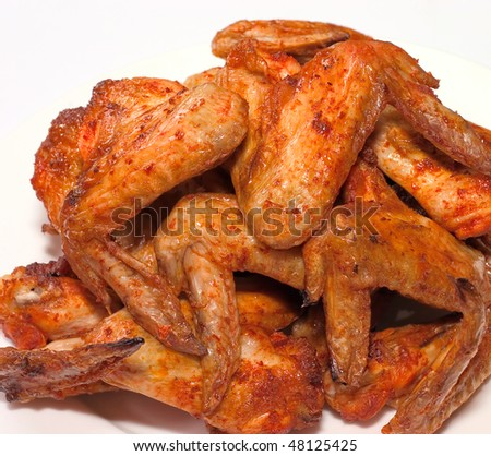 Chicken wings grill on white background