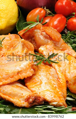 chicken wings seasoned with paprika
