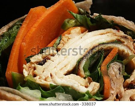 chicken wrap sandwich - stock photo
