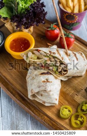 Chicken Wrap, tavuklu wrap, wrap
