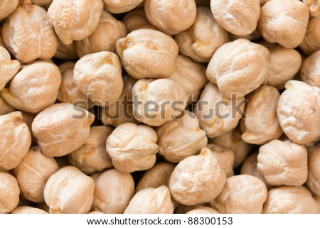 Chickpeas close up as background