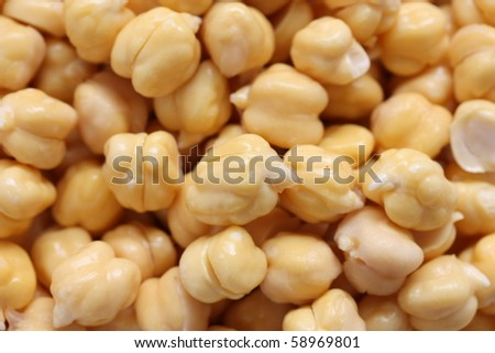 Chickpeas , Garbanzo beans - stock photo