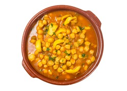 Chickpeas with sepia, homemade food
