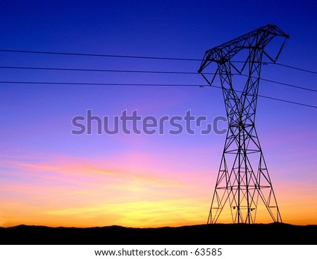 Chico 、カリフォル� ��アの電力線 - stock photo