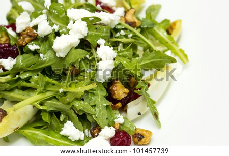 Chicory And Organic Rocket Salad And Goat Cheese Stock Photo 101457739 ...