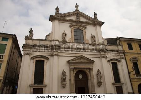 Chiesa di S.Maria in Foro o dei Servi, Vicenza, Italy Foto stock ©