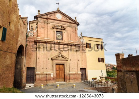 Chiesa di San Giuseppe is Roman church in Siena. Italy
