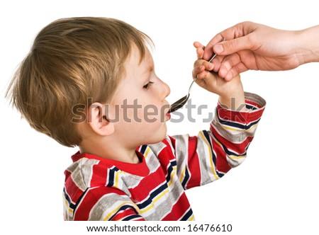 Child accepts a medicine