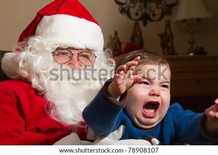 Child Afraid of Santa Claus