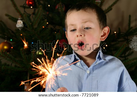 child and sparklers