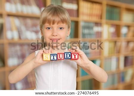 Child, Book, Glasses.