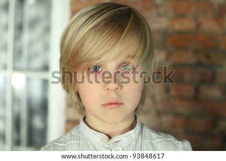 Child boy - face close-up