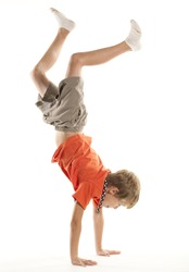 Child Doing a Hand Stand