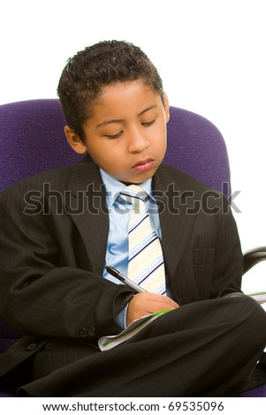 Child Executive Taking Notes