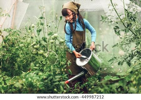 Child gardener.