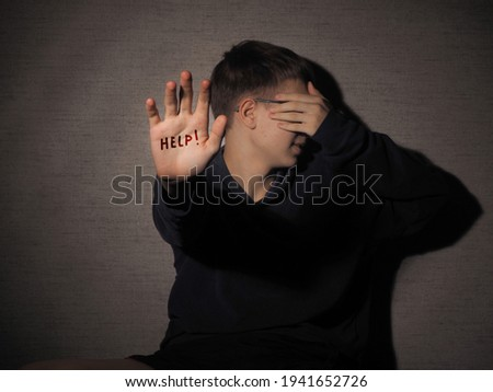 Child harassment concept. Types of violence. Physical, psychological , neglect abuse, emotional abusesabuse. Stock photo ©