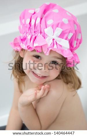 Child having a bath - stock photo