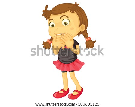 Child illustration on a white background - EPS VECTOR format also available in my portfolio. - stock photo