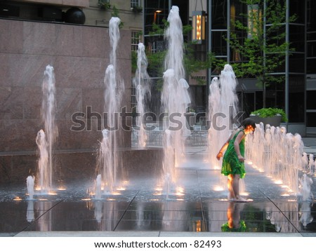 Child in Fountain