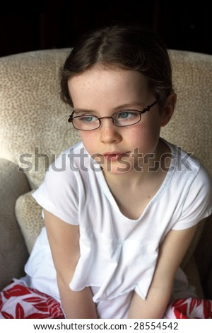 child in glasses
