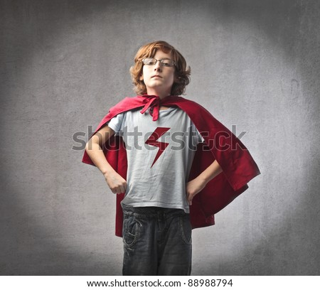 Child in superhero suit