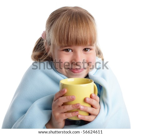 Child is ill with cup